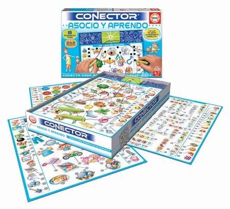 Spoločenské hry - Spoločenská hra Conector Asociácie & Učenie Educa 242 otázok v španielčine od 4-7 rokov_1