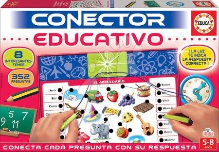 Spoločenské hry - Spoločenská hra Conector Educativo & Učenie Educa španielsky 352 otázok od 5-8 rokov
