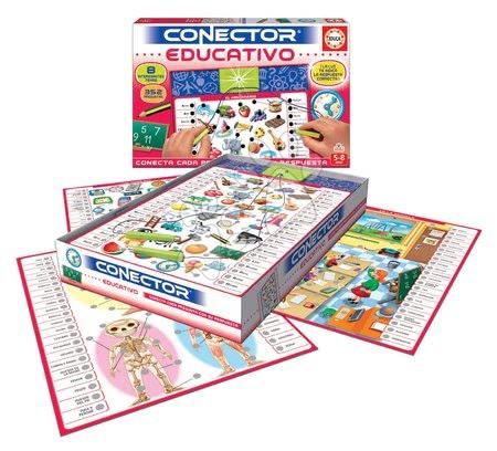 Spoločenské hry - Spoločenská hra Conector Educativo & Učenie Educa španielsky 352 otázok od 5-8 rokov_1