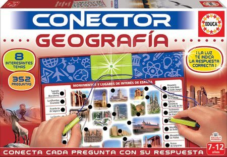 Spoločenská hra Conector zemepis Geografia Educa španielsky 352 otázok od 7-12 rokov