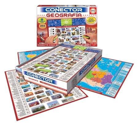 Spoločenské hry - Spoločenská hra Conector zemepis Geografia Educa španielsky 352 otázok od 7-12 rokov_1