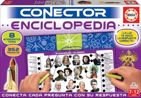 Spoločenské hry - Spoločenská hra Conector Enciclopedia Educa španielsky 352 otázok od 7-12 rokov