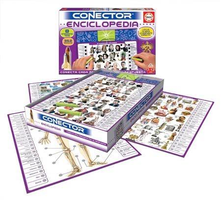 Spoločenské hry - Spoločenská hra Conector Enciclopedia Educa španielsky 352 otázok od 7-12 rokov_1