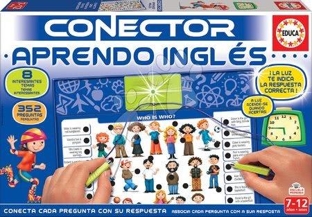 Spoločenské hry - Spoločenská hra Conector Učíme sa anglicky Educa španielsky 352 otázok od 7-12 rokov