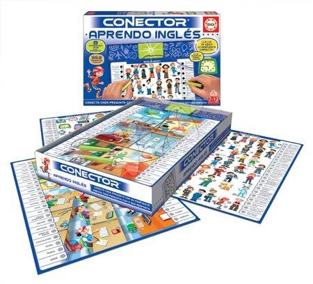 Spoločenské hry - Spoločenská hra Conector Učíme sa anglicky Educa španielsky 352 otázok od 7-12 rokov_1