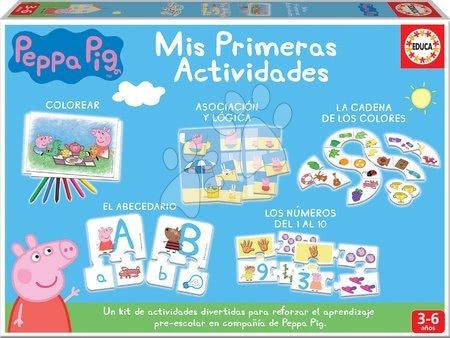 Puzzle pentru copii  - Joc educativ pentru cei mai mici purcelușa Peppa Educa 5 jocuri didactice diferite de la 3-6 ani
