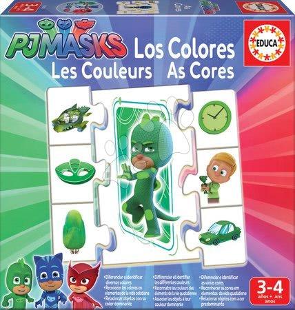 PJ Masks - Náučná hra Učíme sa Farby PJ Masks Educa s obrázkami a farbami 42 dielov