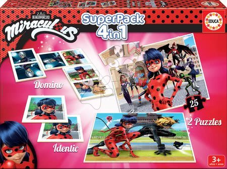 Puzzle, domino a pexeso Miraculous Ladybug Superpack Educa