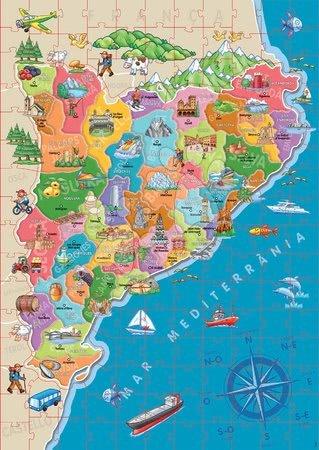 Dětské puzzle od 100–300 dílků - Puzzle Mapa Katalánsko s monumenty Educa 150 dílků od 7 let_1