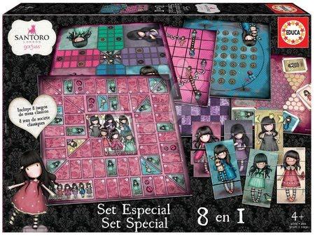 Spoločenské hry - Spoločenské hry Gorjuss 8v1 Special set Educa po anglicky od 4 rokov