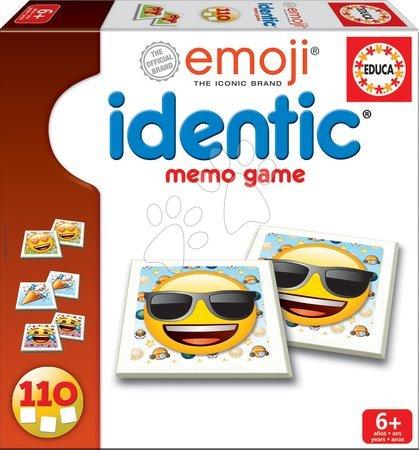 Pexeso gyerekeknek Szmájli Emoji Identic Memo Game Educa 110 kártyalap 6 éves kortól
