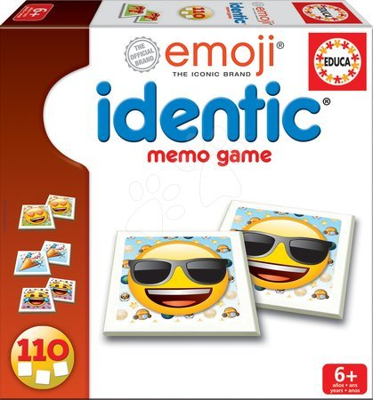 Pexeso Szmájli Emoji Identic Memo Game Educa 110 kártyalap 6 évtől