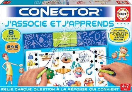 Spoločenské hry - Náučná hra Conector J'associe et J'apprends Educa francúzsky 242 otázok od 4 rokov