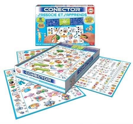 Spoločenské hry - Náučná hra Conector J'associe et J'apprends Educa francúzsky 242 otázok od 4 rokov_1