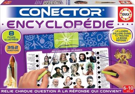 Spoločenské hry - Spoločenská hra Conector Educa Encyclopedie francúzsky 352 otázok od 6 rokov