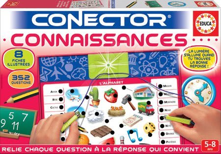 Spoločenské hry - Spoločenská hra Conector Connaissances Educa francúzsky 352 otázok od 5 rokov