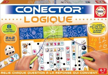 Spoločenské hry - Spoločenská hra Conector Educa Logické myslenie francúzsky 242 otázok od 4 rokov