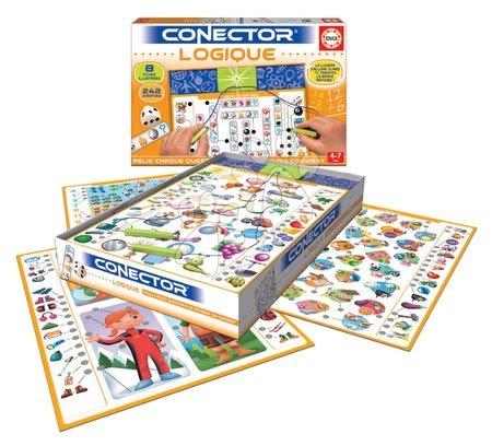 Spoločenské hry - Spoločenská hra Conector Educa Logické myslenie francúzsky 242 otázok od 4 rokov_1