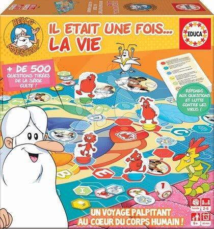 Společenská hra Hello Maestro La Vie-Le Jeu Educa pro 2–6 hráčů, francouzsky od 6 let