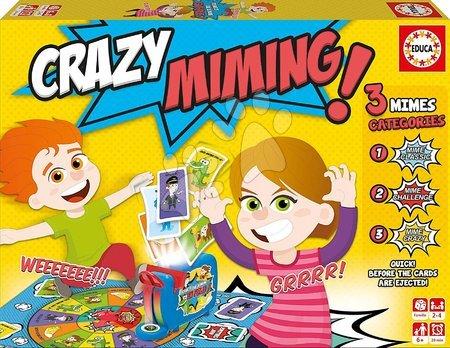 Társasjáték Crazy Miming Educa angol nyelven 6 évtől