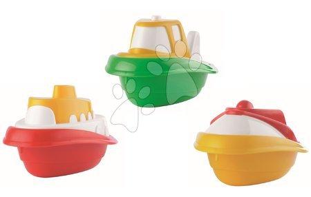 Kültéri játékok - Csónak vízbe Maxi Écoiffier hossza 18 cm piros/zöld/sárga 3 drb 18 hó-tól