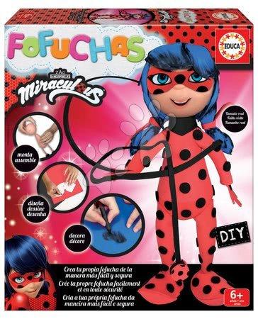 Štýlové bábiky Fofuchas Miraculous Ladybug Gorjuss Santoro Educa Obleč ju sama od 6 rokov
