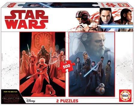 Puzzle Star Wars: Episode VIII-The last Jedi Educa 2x 500 darabos és Fix ragasztó 11 évtől