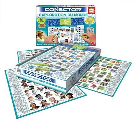 Spoločenské hry - Spoločenská hra Conector Exploration Du Monde Educa francúzsky 352 otázok od 7 rokov_1