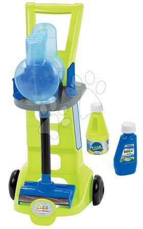 Hry na domácnosť - Upratovací vozík s tyčovým vysávačom CleanHome Écoiffier s čistiacimi prostriedkami od 18 mes