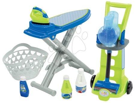 Écoiffier - Úklidový vozík se žehlicím prknem 3v1 CleanHome Écoiffier s čisticími doplňky od 18 měsíců