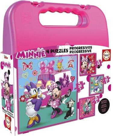 Minnie Mouse - Puzzle v kufříku Minnie happy helpers Case Educa 12-16-20-25 dílů