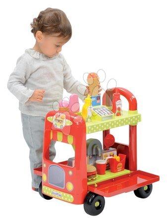 Kreativne i didaktičke igračke - Set drvena klupa Modulo Space s obostranom pločom Smoby i kolica sa sladoledom 100% Chef s hamburgerima_1