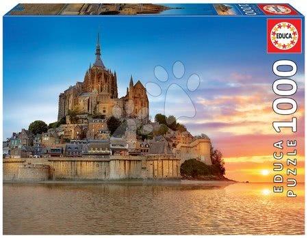 Puzzle Mont Saint Michel Educa 1000 darabos és Fix ragasztó 11 évtől