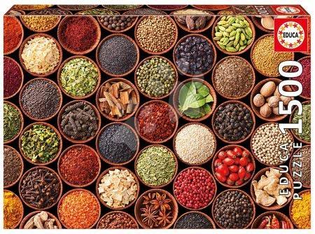 1500 darabos puzzle - Puzzle Herbs and spices Educa 1500 darabos és Fix ragasztó 11 évtől