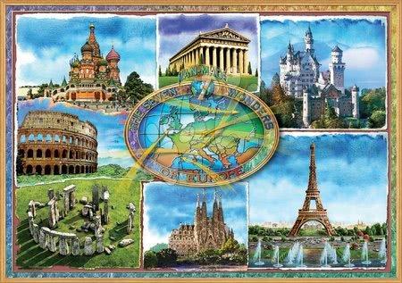 1500 darabos puzzle - Puzzle Seven wonders of Europe Educa 1500 darabos és Fix ragasztó 11 évtől_1