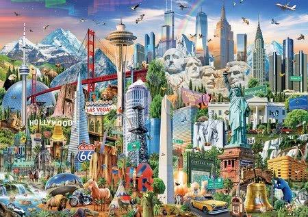1500 darabos puzzle - Puzzle Symbols from North America Educa 1500 darabos és Fix ragasztó 11 évtől_1