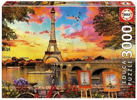 Igračke za sve od 10 godina - Puzzle Sunset in Paris Educa 3000 dijelova od 11 godina