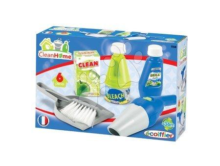Hry na domácnosť - Upratovacia súprava Clean Home Écoiffier 6 dielov modro-zelená_1
