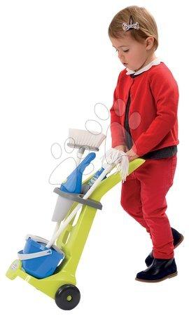 Hry na domácnosť - Upratovací vozík Clean Home Écoiffier 8 doplnkov modro-zelený_1