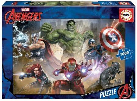 Avengers Assemble - Puzzle The Avengers Educa 1000 dielov+Fix puzzle lepidlo EDU17694