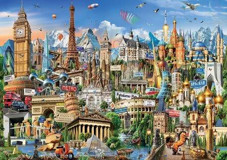 Igračke za sve od 10 godina - Puzzle Europe Landmarks Educa 2000 dijelova i Fix ljepilo od 11 godina_1
