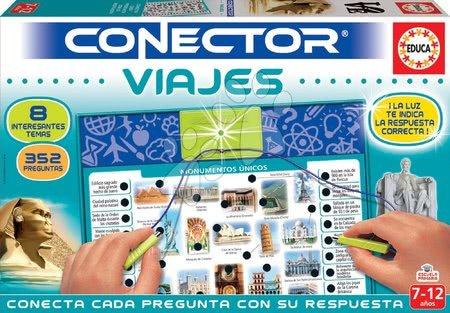 Spoločenské hry - Spoločenská hra Conector Monumenty a cestovanie Viajes Educa španielsky 352 otázok od 7-12 rokov