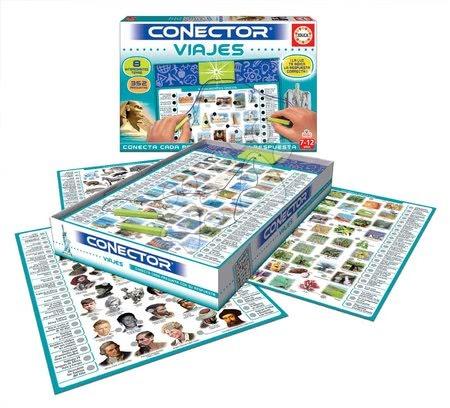 Spoločenské hry - Spoločenská hra Conector Monumenty a cestovanie Viajes Educa španielsky 352 otázok od 7-12 rokov_1