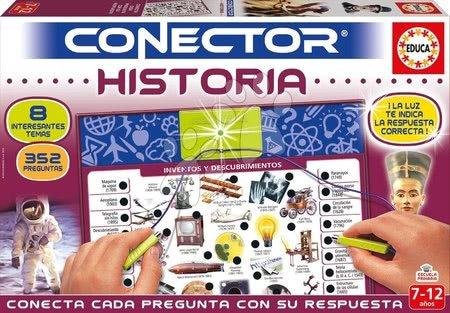 Spoločenské hry - Spoločenská hra Conector História Educa španielsky 352 otázok od 7-12 rokov