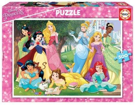 Puzzle Disney Princess Educa 500 dílků a Fix lepidlo od 11 let