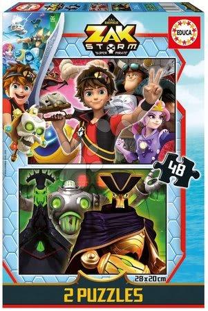 Gyerek puzzle 8 - 99 darabos - Puzzle Zak Storm Educa 2x48 darabos 4 évtől