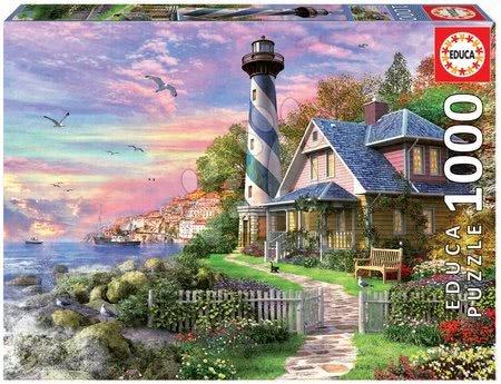 Puzzle Lighthouse at Rock Bay Educa 1000 dílků a Fix lepidlo od 11 let