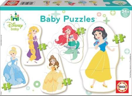 Puzzle pentru copii  - Puzzle pentru cei mici Baby 5 Educa Disney Princess de la 24 luni