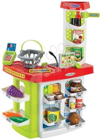 Supermarteturi pentru copii - Supermarket Supershop Écoiffier cu alimente şi coş cu 20 de accesorii de la 18 luni