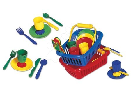 Detské kuchynky - Pikniková sada Dohány mini v košíku